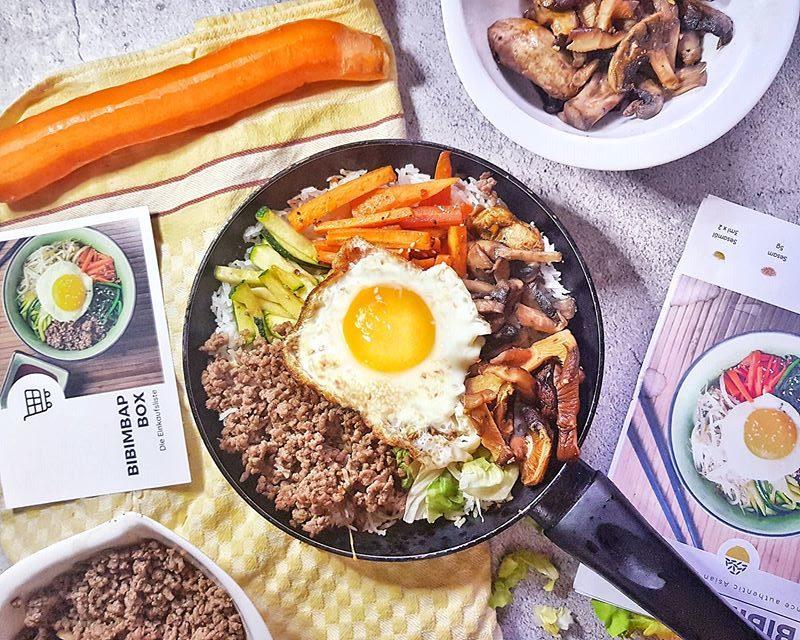 Bibimbap with the Easycookasia cooking box