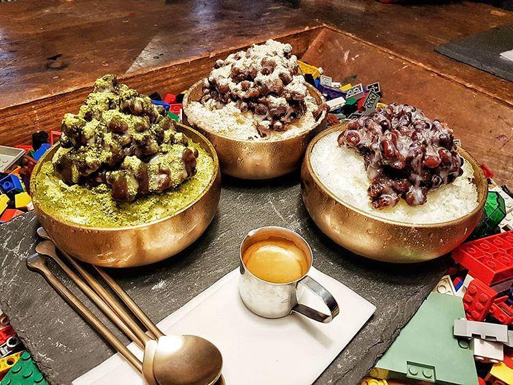 Cooling Patbingsu at Cafe Gong Dan