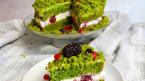 spinach moss banana cake